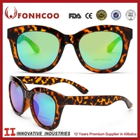 FONHCOO Factories Companies Names 2015 High Quality Wholesale Plastic Women Leopard Vintage Italy Design Ce Sunglasses