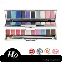 HD wholesale makeup supplies Multi Lip Stick and eyeshadow Palette