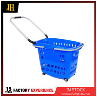 Wholesale oval large shopping basket with two types handle
