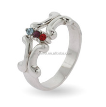 Fake Diamond Rings sterling silver with CZs set