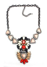 Onyx pendant necklace beautiful colorful statement necklace jewelry