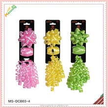 star bow, curly ribbon and egg ribbon gift wrap set pack