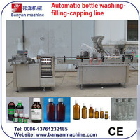 YB-YG4 Four nozzle filling and one nozzle capping Syrup Filling Sealing Machine/Tel:0086-18516303933