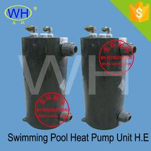 Titanium condenser, swimming pool heat exchanger (WHC-3.0D )