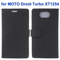 Stone Texture Wallet Leather Flip Phone Cover for Motorola Droid Turbo