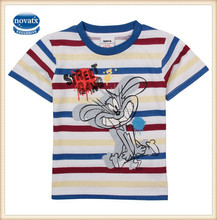 (CA1323) 2-6Y Nova kids children clothes export factory made baby boys t-shirts with printed animal tops kids