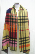 Stock! New Fashion Lady Hot sale England Checked Thick Poncho,Cape Wool,shawl