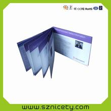 """Caliente venta 4.3 """", 5 """", 7 """" caliente venta LCD vídeo folleto / tarjetas de felicitación de vídeo para los negocios promocional"""