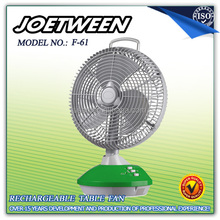Solar fan rechargeable ac dc operation F61