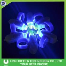 Supply Promotional Mini Flashing LED Glow Finger Light,Mini Blinking Led Light,Lighting Glow Ring Light With Logo
