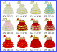 Latest Girls Christmas Evening Dress Children Lace Dress Designs One Piece Girls Party Dresses Set With Match Elastic Headband