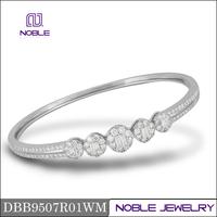 Classic 18K white gold jewelry latest design narrow bangle