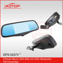 1080p smart car mirror gps for citroen c5 radio with hd dvr