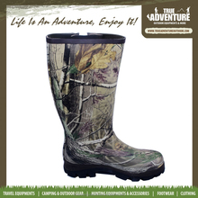 True Adventure TA2-013 Outdoor Hunting Camo Men Outdoor Boots Cheap Rubber Safety Rain Boot