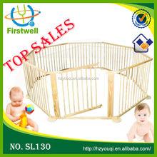 Large baby play pen 8 piece with door Multi shape wooden