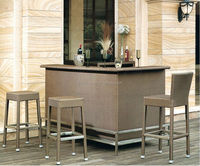 Wholesale rattan bar tables and stools for commercial
