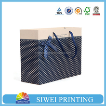 2015 cheap custom printed shopping handbag cotton handle paper bag for wedding