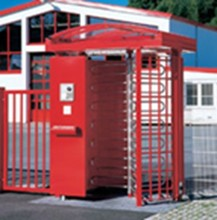 Automatic Stainless Steel full height turnstile Two Directions With ID / Bar Code