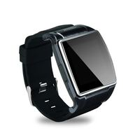 "Free shipping 2.0M camera smart watch and phone IN 1.6"" capacitive IPS LCD screen"