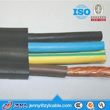 Oil-resistant & Water-proof Rubber Flat or Round Power Cable used for Pump