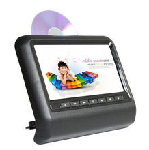 "9"" widescreen detachable digital panel car headrest monitor with dvd player"