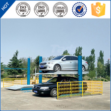 pjs 2 post 2 floors sharing columns hydraulic mini car parking lift\parking system
