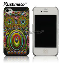 Premium Owl Eyes Rear Back Design Hard Case Cover Faceplate for Apple iphone 4G 4S