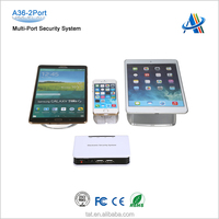 Retail electronics security solutions,security controller with power and alarm module for cell phone display A36-2port