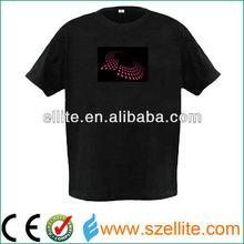 flashing led clothing light el led equalizer t shirt