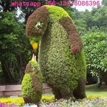 LXY080810 wedding decoration artificial animal topiary plants fake bird grass animal topiary vivid animal topiary