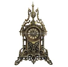 European Small Antique Skeleton Metal Table Clock for Gift