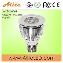 led spotlight 12v par20 7w UL,high bright, warm white cool white