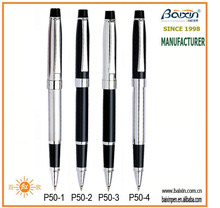 China manufacturer Custom high end luxury metal/stainless steel rollerball/roller tip pen for school/office/promotion, RP-P50