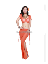 New Style Sexy Women Arabian Dress Costumes With Mesh Fabric