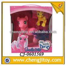 Hot sales 17cm tall soft plastic horse with light and music my little pony toys