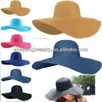 Fashion Women Girl Floppy Derby Hat Wide Large Brim Summer Beach Straw Sun Hat