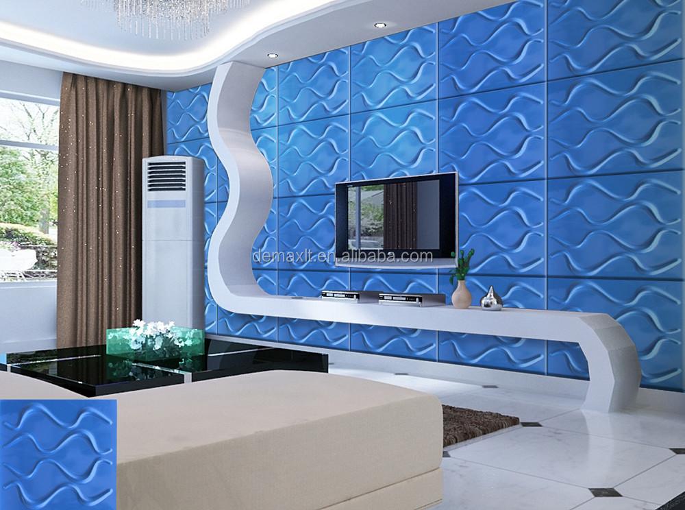 Grigio e blu arcobaleno pop pvc 3d pannello a muro per la ...