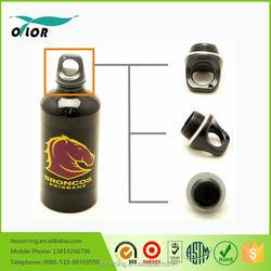 Wholesale good price best quality aluminum black water sports bottle with a horse logo