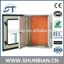 manufacturer of Stainless metal cabinets (panel board), distribution box, size 400*300*300 mm/ can design as your requirement