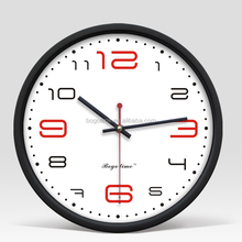 Cheap Plastic round wall clock with customzied clock dial LOGO