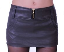 Factory outlets autumn new large size women's PU leather culottes shorts elastic fabric stitching leather skirt wholesale
