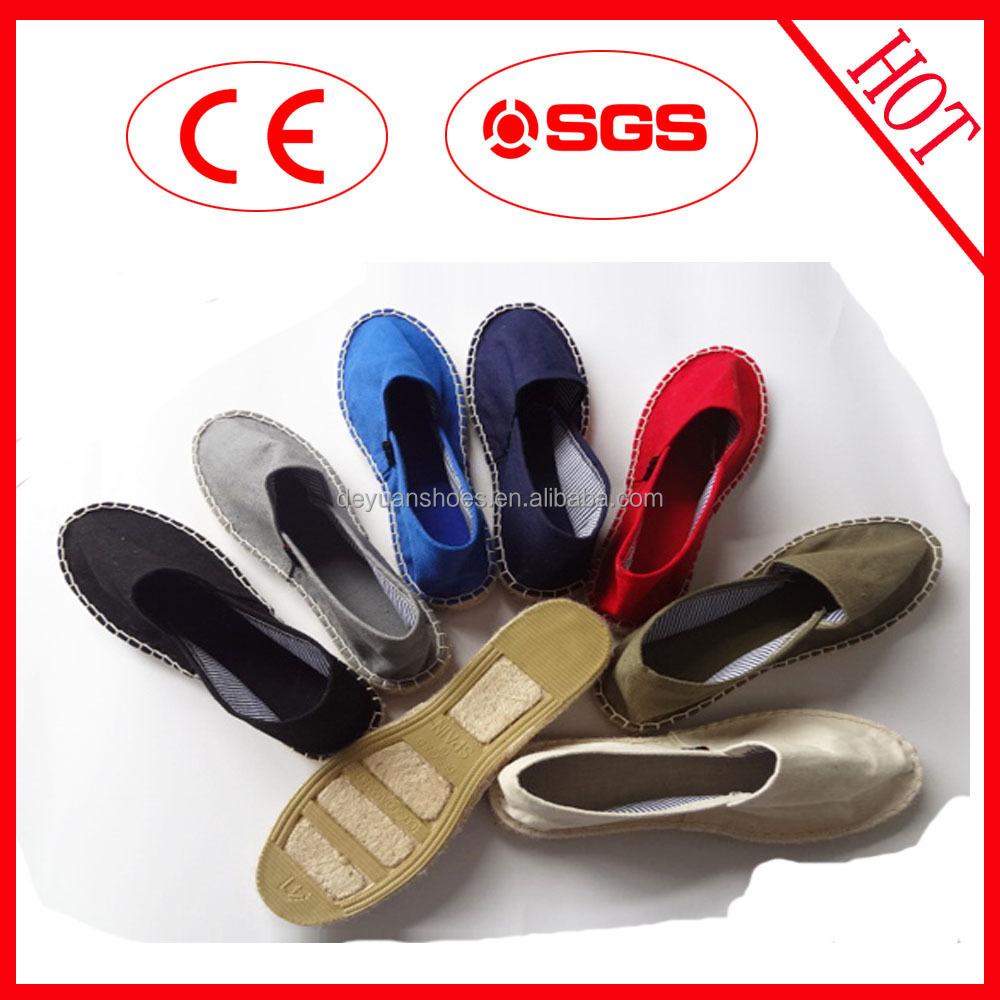 Productos de china caliente al por mayor zapatilla suela yute alpargatas alpargatas