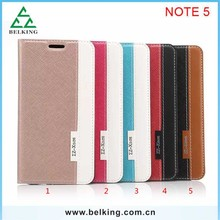 Smartphone Leather For Samsung Note 5 Magnetic Crossing PU Wallet Leather Card Case
