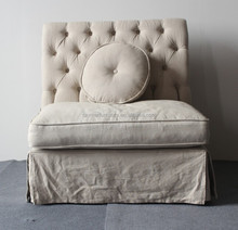 French tufted upholstered designs of single seater sofa