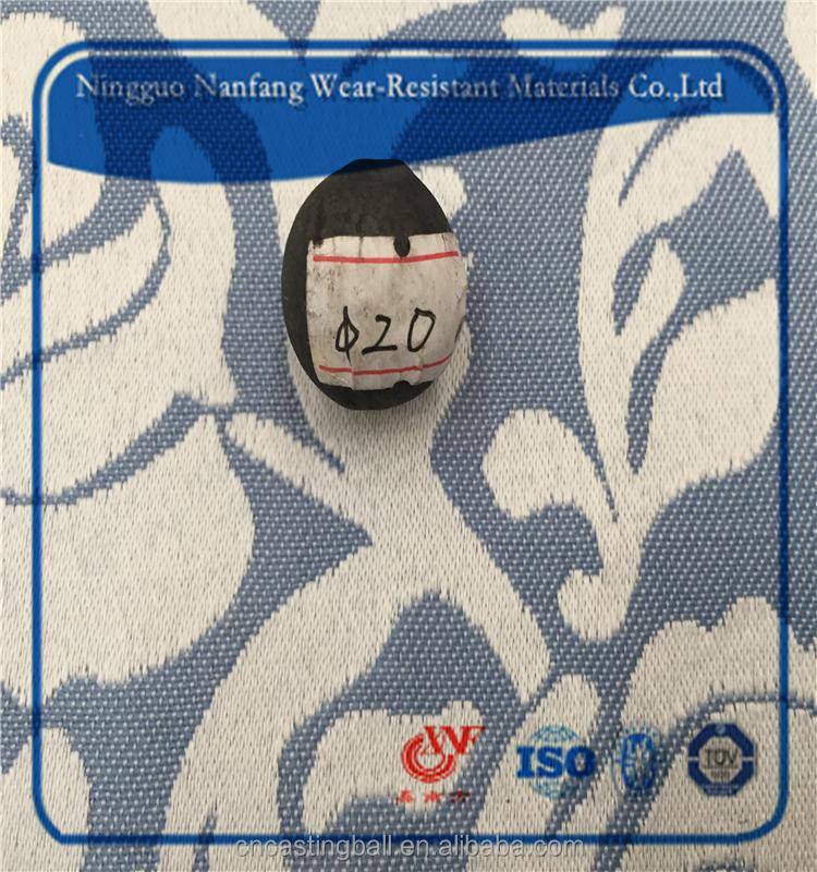 Чугун, стальные мелющие мяч с HRC55-65