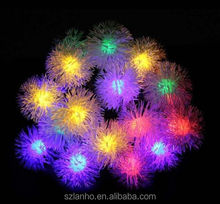 new hot 20LED Wedding Party Garden Christmas Tree Decoration 4.8m Solar powered Chuzzle shaped Fairy String Light