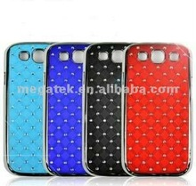 Cell phone case rhinestone leather skin for samsung galaxy s3 cases, for samsung s3 case