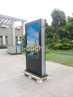 outdoor lcd advertising digital signage vetical portrait sunlight readable lcd monitor