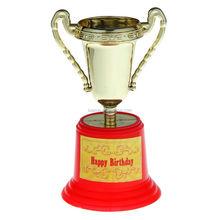 Troféu feliz aniversário por atacado baratos de plástico troféu