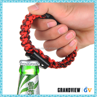 Handmade High Quality Useful 550 Paracord bracelet funny bottle opener,wine bottle opener,wholesale beer bottle opener